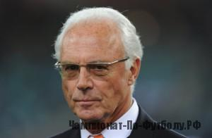 Germany's football legend and member of the executive committee of international football governing body FIFA, Franz Beckenbauer, poses prior the 2010 World Cup semi-final match Germany vs. Spain on July 7, 2010 at Moses Mabhida stadium in Durban.  NO PUSH TO MOBILE / MOBILE USE SOLELY WITHIN EDITORIAL ARTICLE -   AFP PHOTO / GABRIEL BOUYS